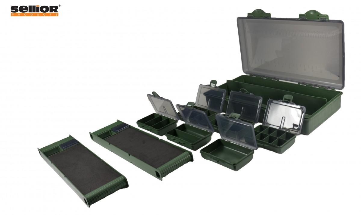 Set krabiček a zásobniků na návazce Sellior 35x18x6cm