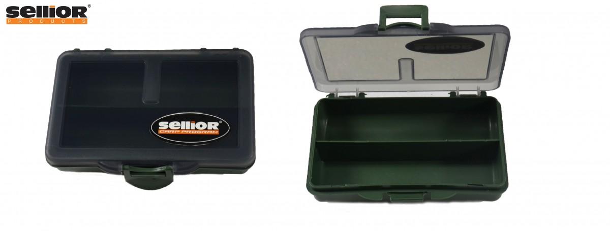 Krabička Sellior 10x7x2,5cm - dvoukomorová