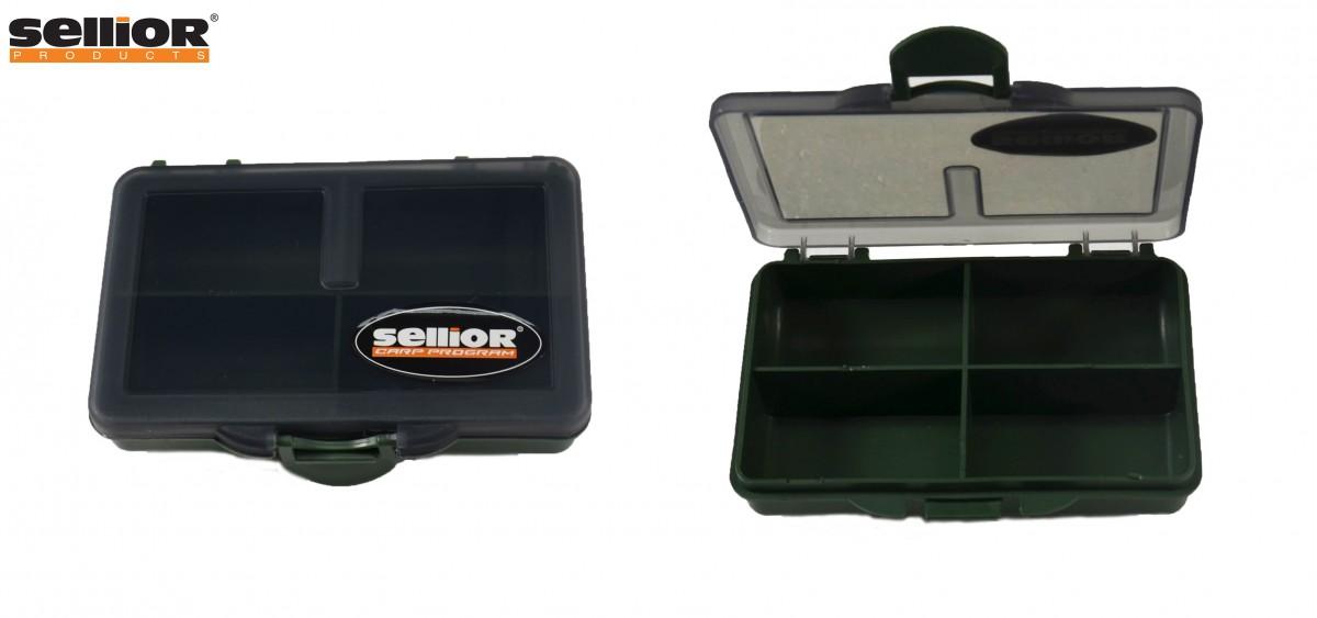 Krabička Sellior 10x7x2,5cm -čtyřkomorová