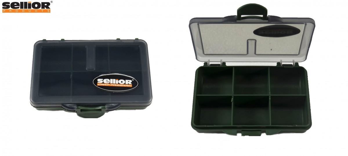 Krabička Sellior 10x7x2,5cm -šestikomorová