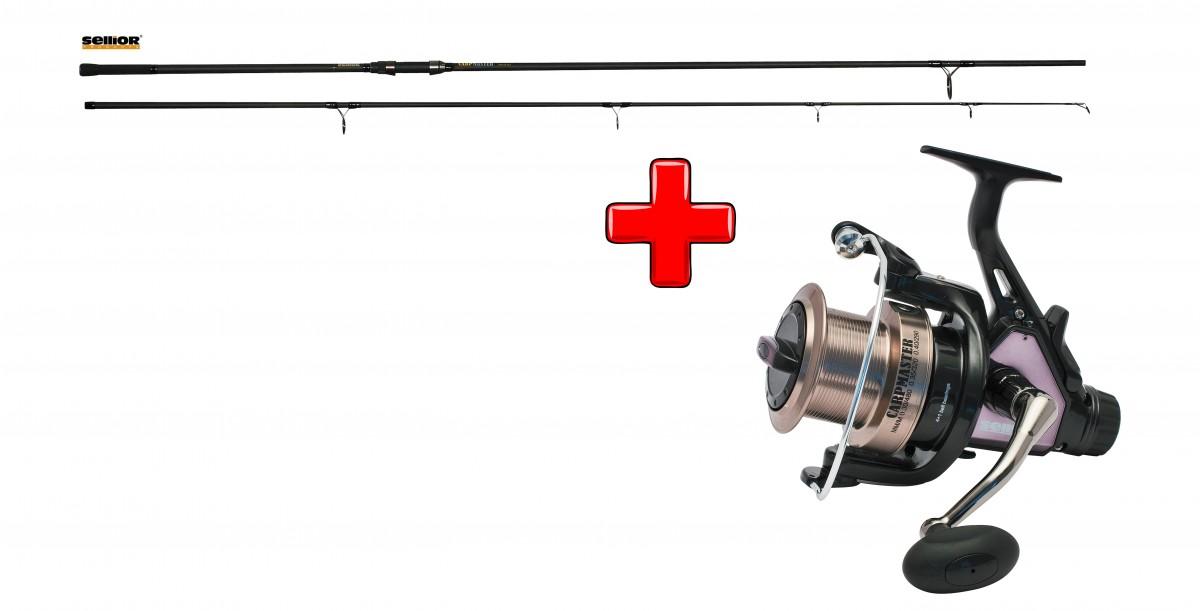 Akce Prut Carp Master SELLIOR 3,60m, 3,25lb + Naviják Sellior Carp Master 65