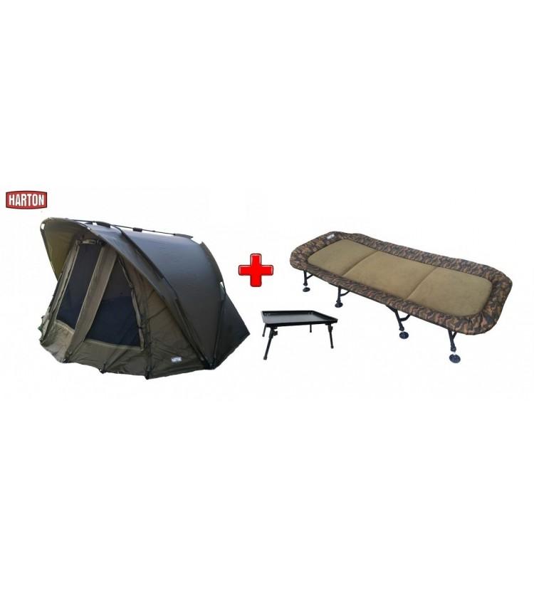 Bivak Harton Patron 2-man + lehátko Harton Eight Deluxe + bivvy stolek