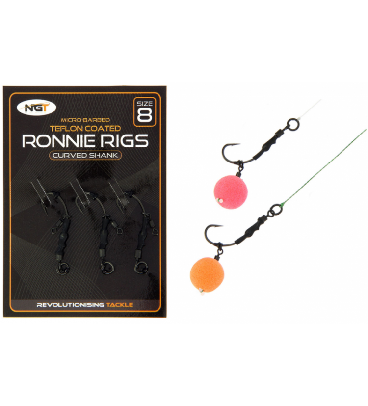 NGT Montáž Ronnie Rig & Teflon Hooks 3 ks vel. 6