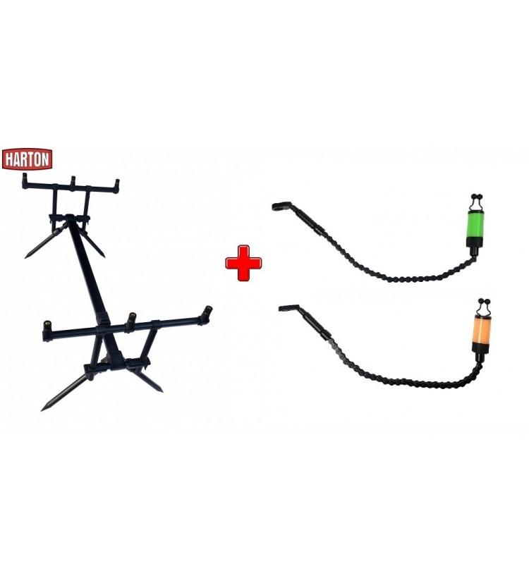 Akce Rod Pod Harton Black Stabil + 2x řetízkový swinger