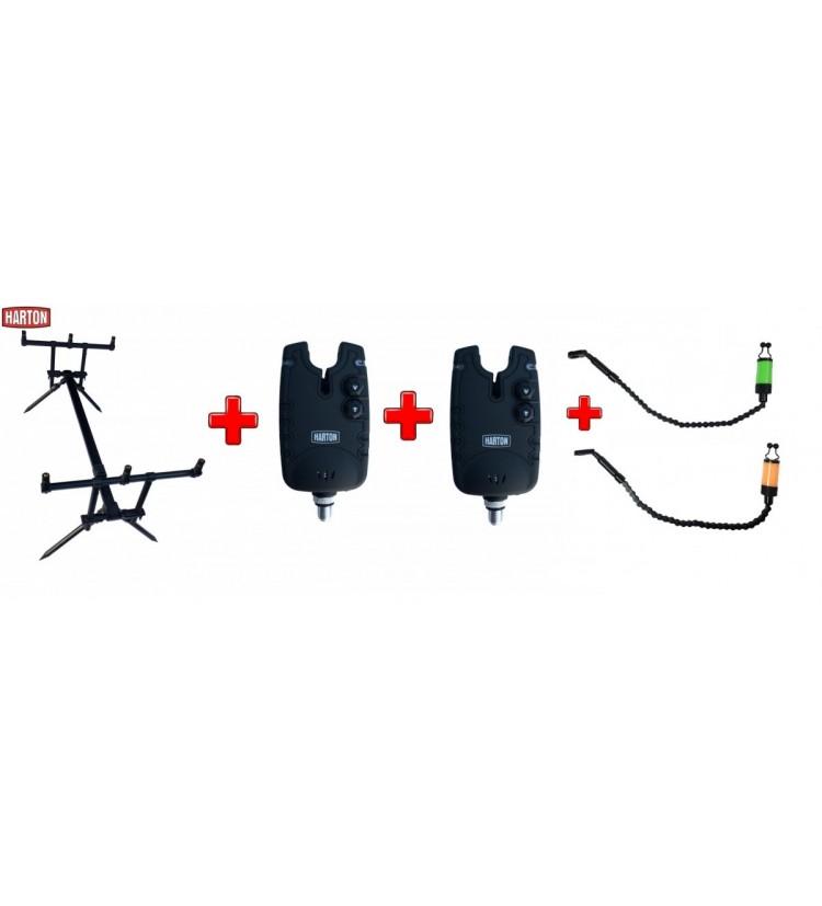 Akce Rod Pod Harton Black Stabil + 2x Hlásič Harton FMX + 2x řetízkový swinger