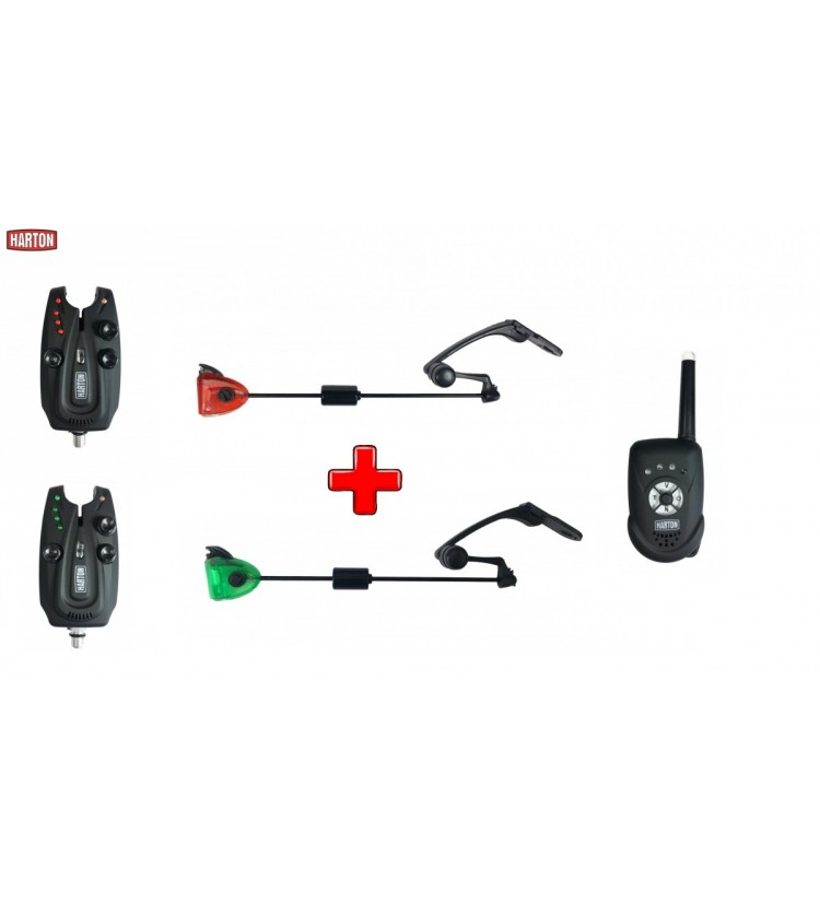 Akce Sada hlásičů Harton H2 2+1 + 2x indikátor Sellior Carp Swing (červený, zelený)