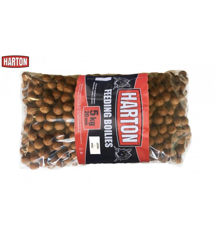 Krmné Boilies Harton 20mm / 5kg příchuť Játra + krill