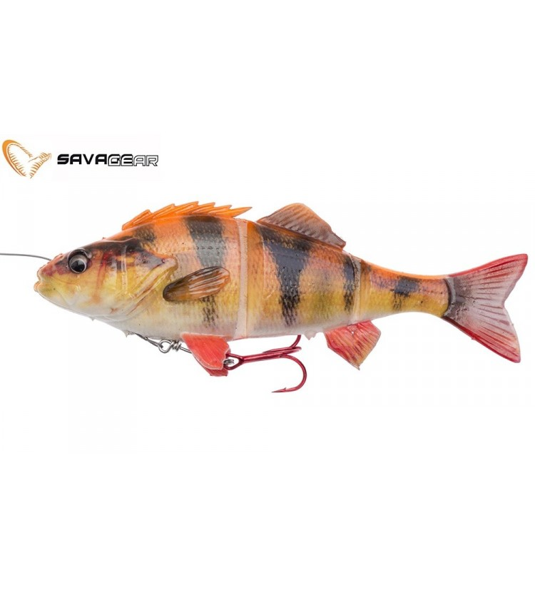 Savage Gear Gumová Nástraha 4D Line Thru Perch SS 03 Albino 17cm 63g
