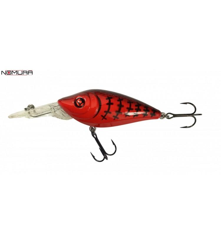 Wobler Nomura Isei Crank Red Black Striped 7cm