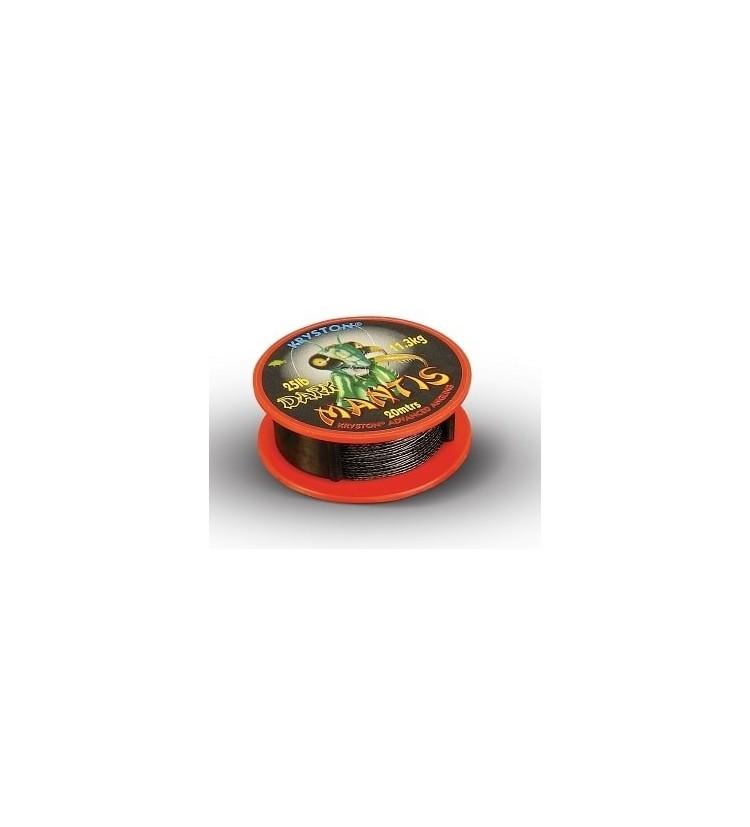 Kryston potahované šňůrky - Super Mantis Dark 15lb 20m