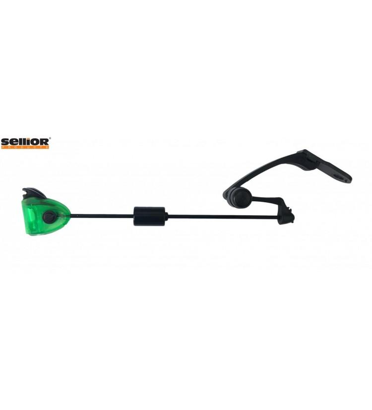 Indikátor záběru Sellior Carp Swing kyvadlový bez pružiny - zelený