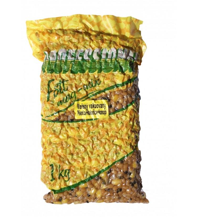 Partikl Kukuřice + Pšenice + Konopí Professional Vařená Vakuovaná - 1kg