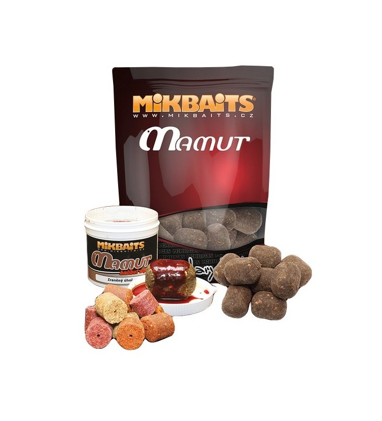 Mikbaits Mamut boilie 1kg - Krab Pijavice 50x35mm
