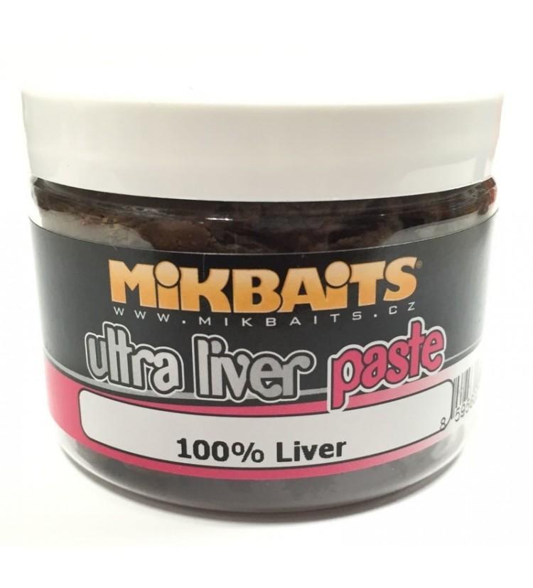 Mikbaits Ultra Liver paste obalovací těsto 150g - Játrový + Robin Red