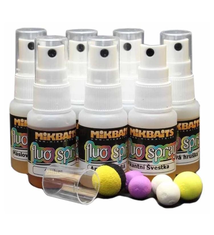 Mikbaits Fluo spray 30ml - různé příchutě