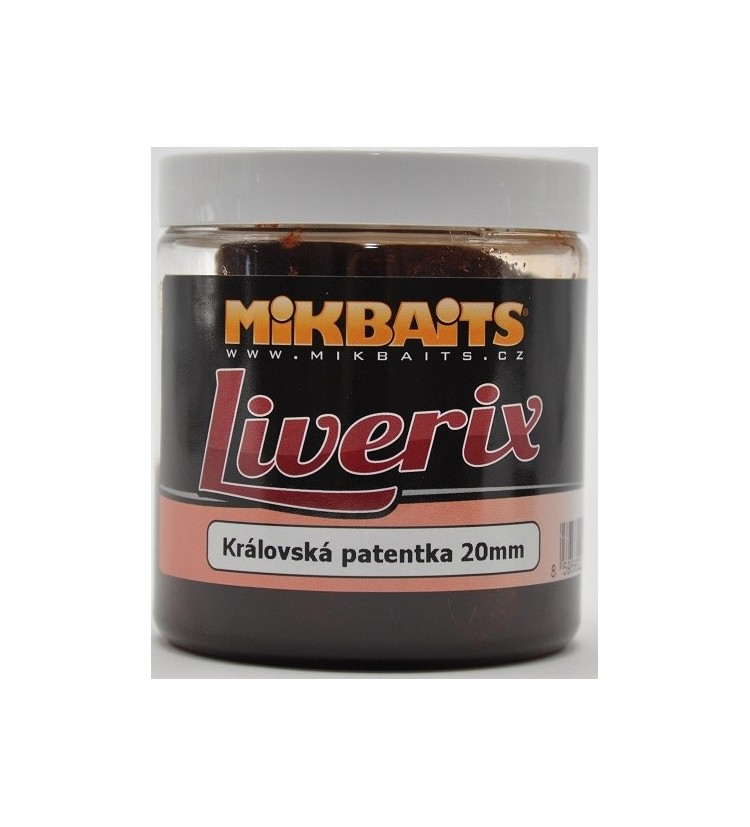 Mikbaits Liverix boilie v dipu 250ml - různé příchutě 16mm / 20mm / 24mm