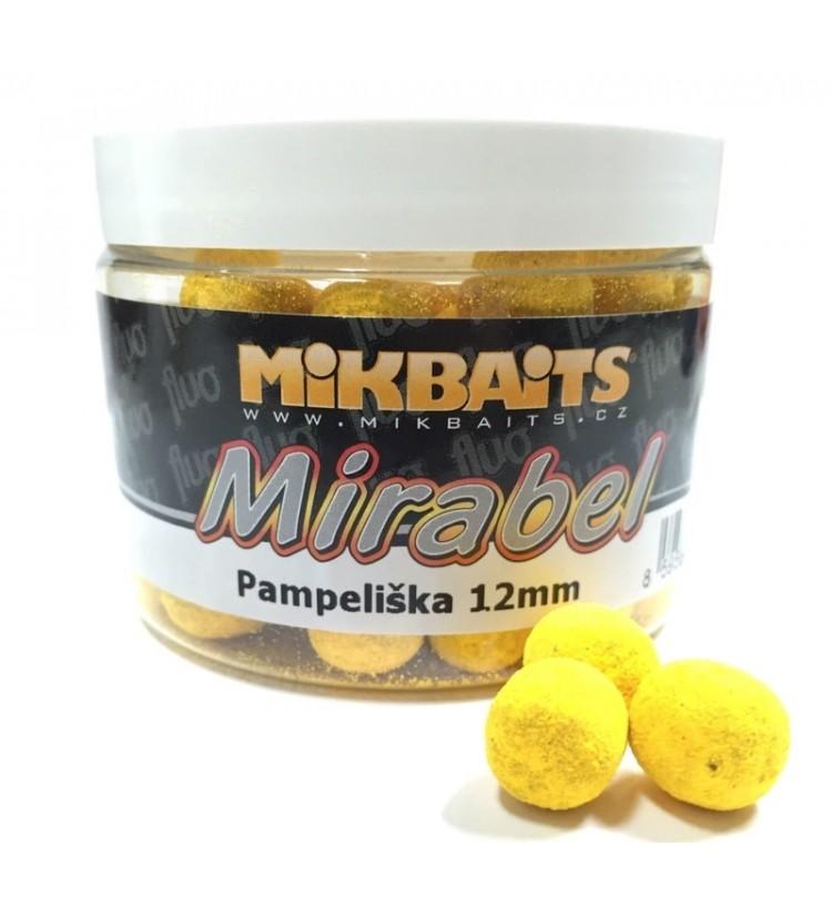 Mikbaits Mirabel Fluo boilie 150ml - různé příchutě 12mm