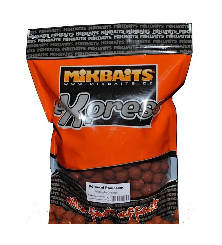 Mikbaits eXpress boilie 1kg - různé příchutě 18mm