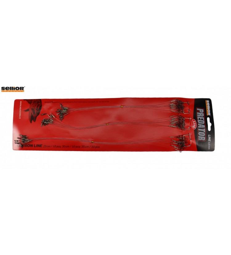 Fluocarbonové lanka 35cm / 12kg - 1ks