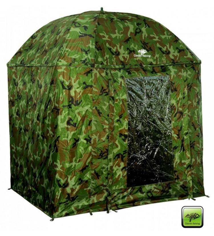 Deštník Giants Fishing Full Cover Square Camo Umbrella 250cm