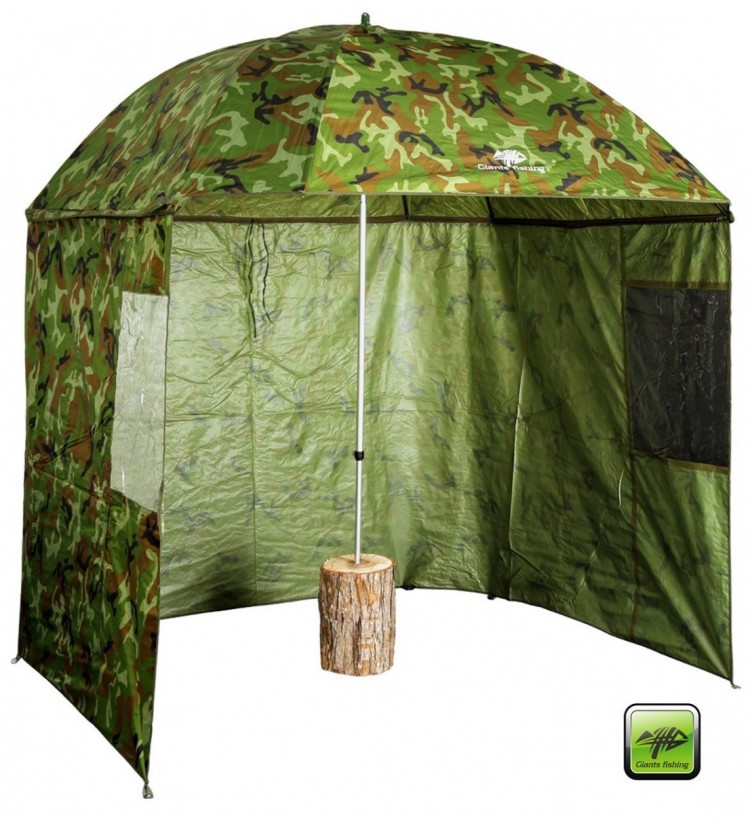 Deštník Giants Fishing Square Camo Umbrella 250cm