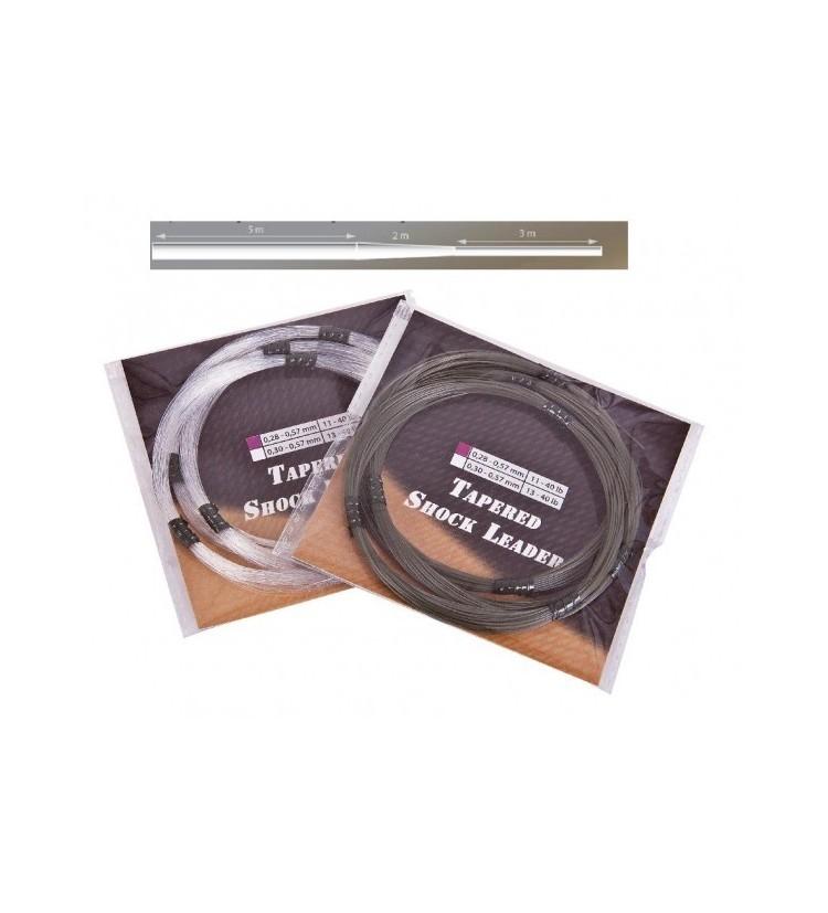 Camou Shock Leaders / Fluoro Shock Leaders Průměr 0,28 - 0,57 mm, přírodní