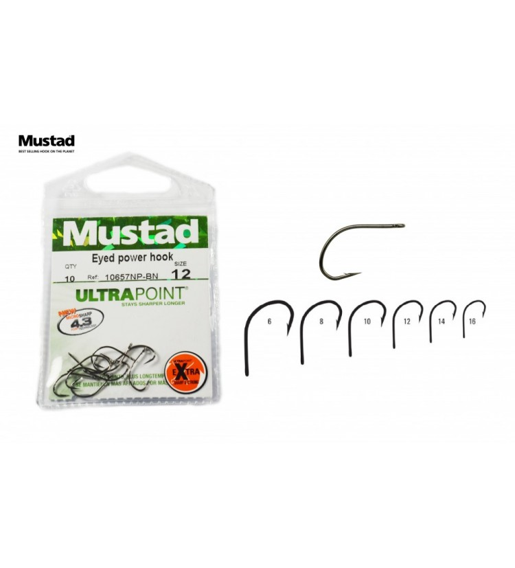 Háček Mustad Eyed Power Hook