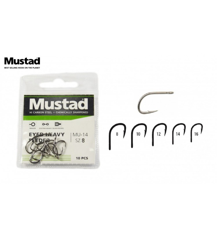 Háček Mustad Eyed Heavy Feeder