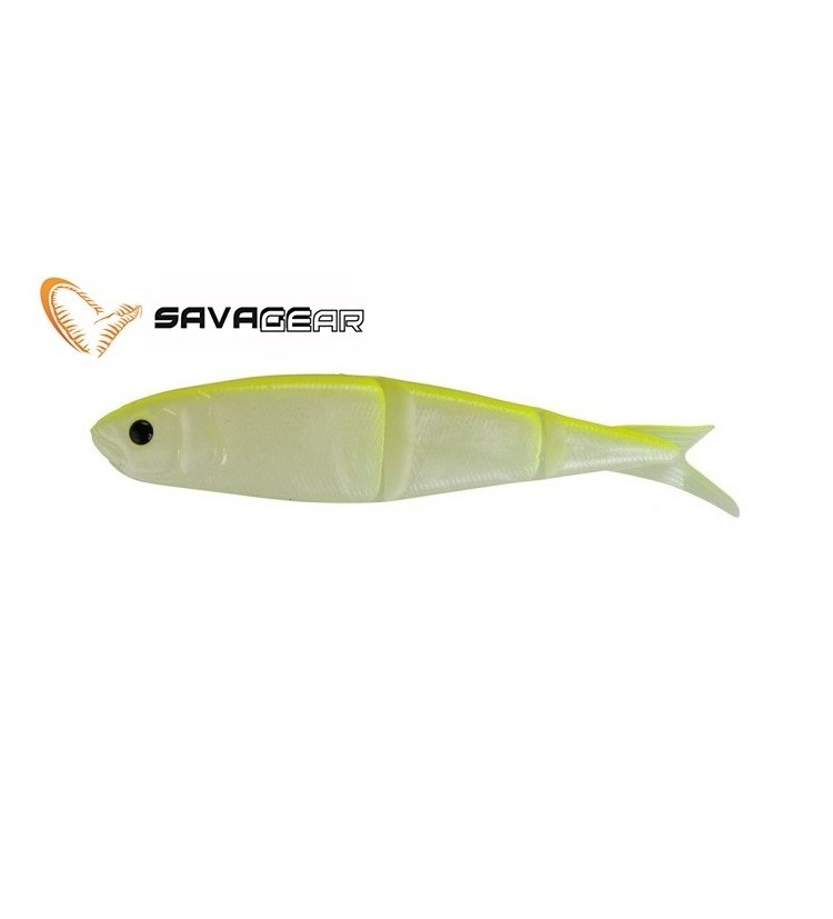 Savage gear 4play Fluo yellow glow 8cm / 4ks balení