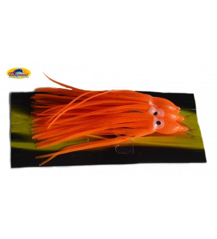 Mořský návazec Tsunami - chobotnička háčky 7/0 - oranžová