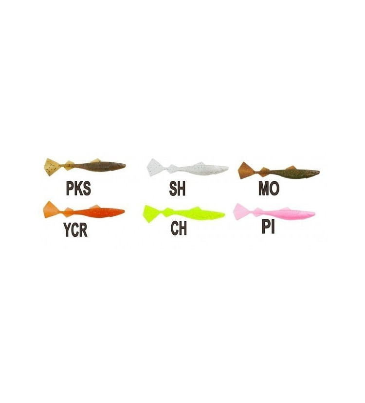 Gumová nástraha Taboo tail Vzor PI - 12,5cm / 4ks balení