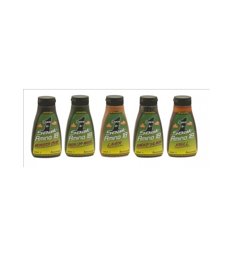 Booster Anaconda Soak Amino 18 - Příchuť Green Lipp Mussel
