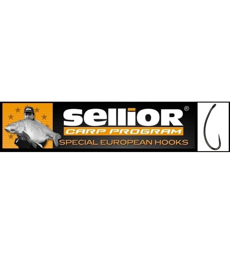 Háček Sellior Longshank balení po 10ks (vel. 4, 6, 8) - bez protihrotu