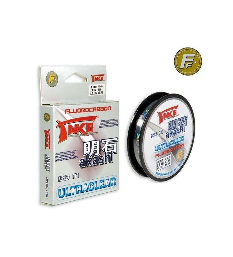 Fluorocarbon Fishing Ferrari AKASHI 50m, 0,12mm