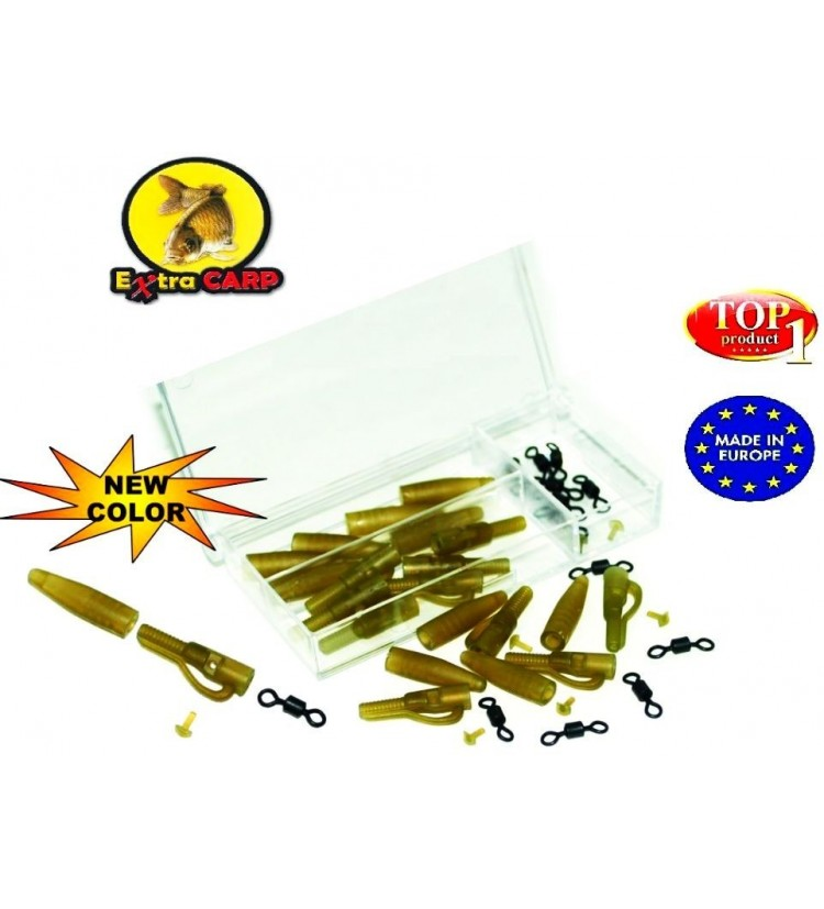Závěs Extra Carp Lead Clip Extra Box With Rolling Swivel - 10ks