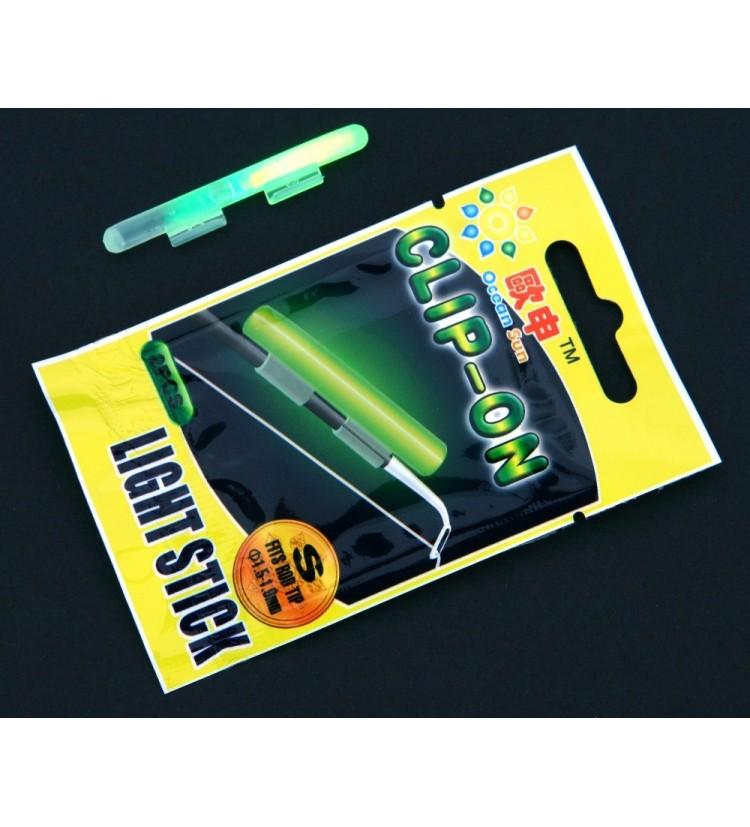 Chemické světlo 5 x 50mm feeder fluozelené (2ks v balení)