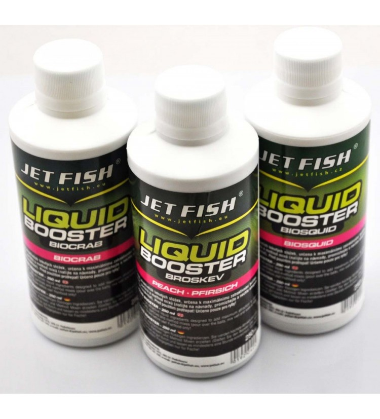 Liquid booster JET FISH 250ml - broskev