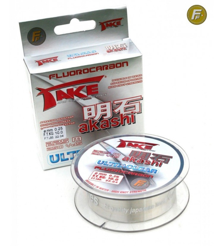Fluorocarbon Fishing Ferrari AKASHI 225m, 0,16mm
