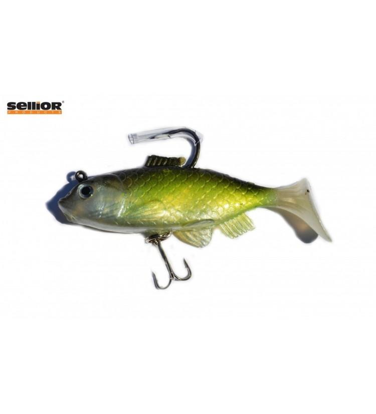 Gumová rybka Sellior J504 10cm / 2ks v balení