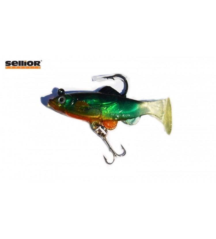 Gumová rybka Sellior J852 6cm / 4ks v balení