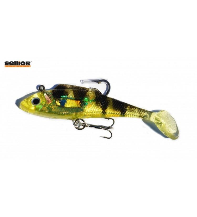 Gumová rybka Sellior J813 10cm / 2ks v balení