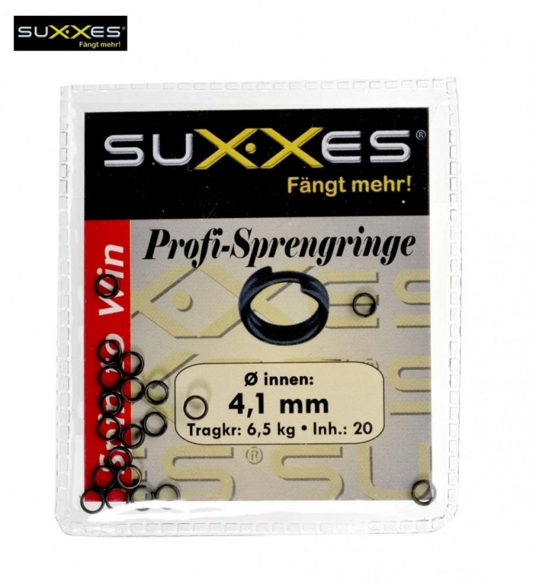 Pevnostní kroužek Suxxes 4,1mm 6,5kg / 20ks v balení