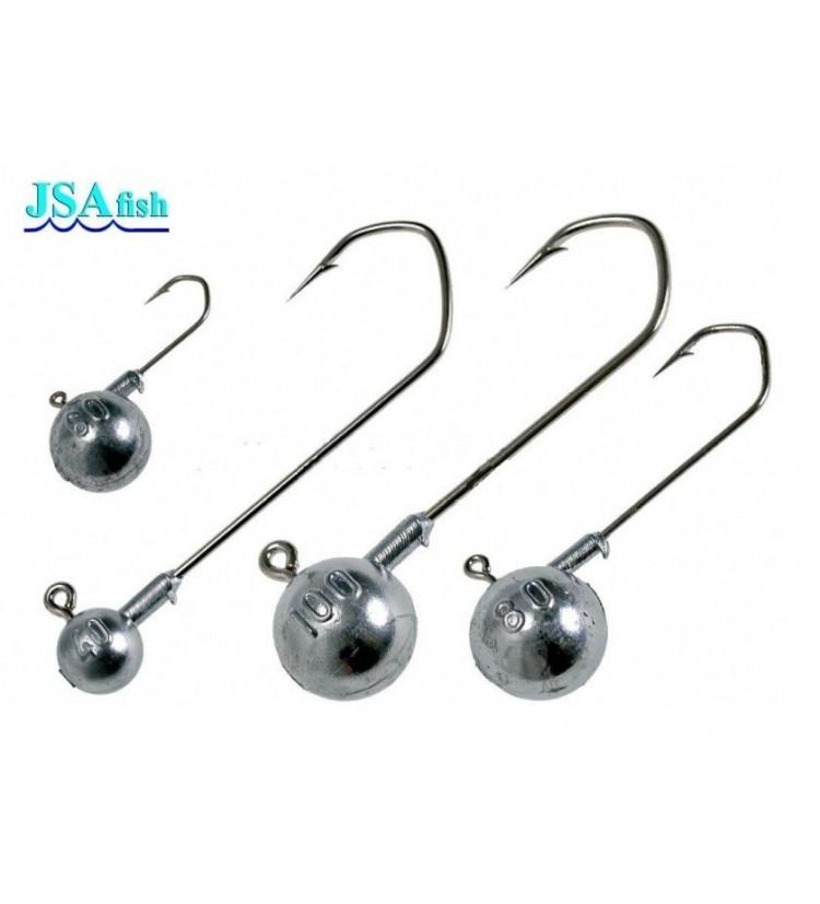 Jigová hlava JSA fish Vel. 2/0 40g / 3ks balení