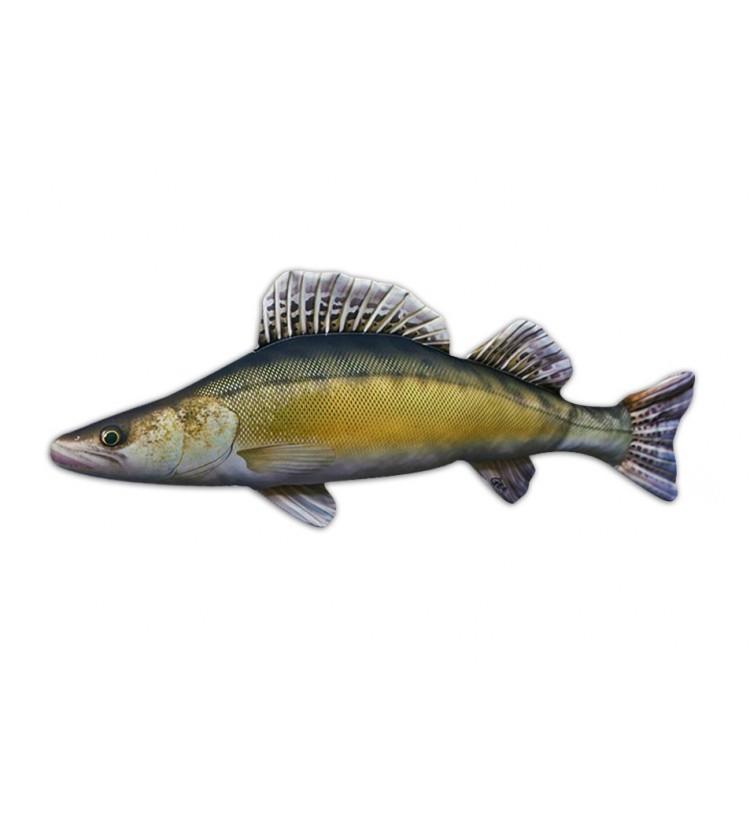 Polštář plyšová ryba Candát