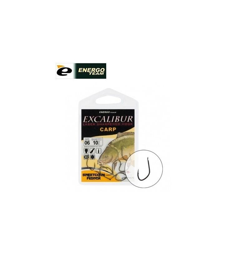 Háček Energo Team Excalibur Sweetcorn Feeder Vel.6 / 10ks balení