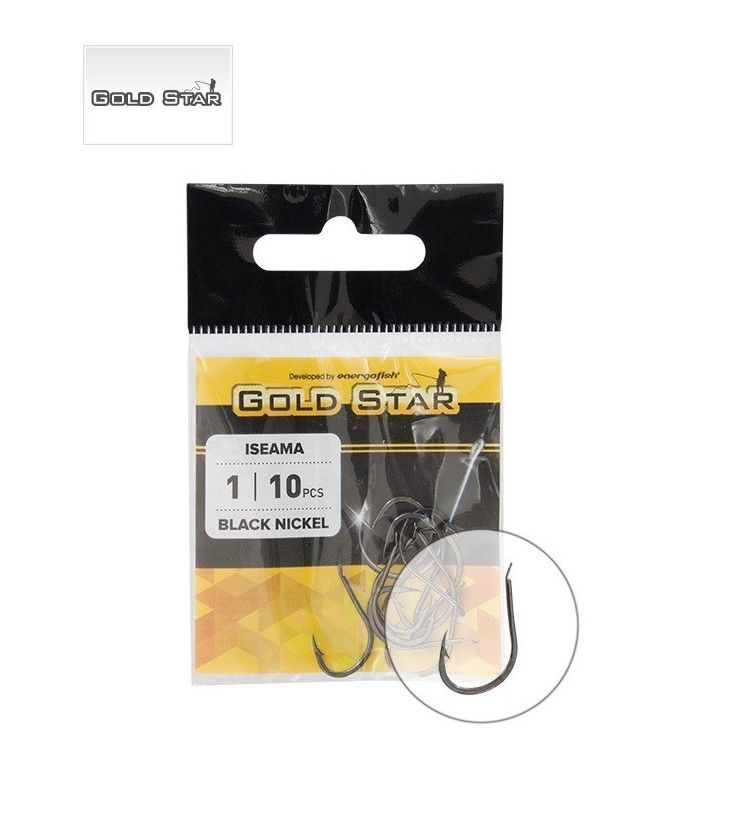 Háček Gold Star Iseama BN vel.1/0 8DB/CS 8ks balení