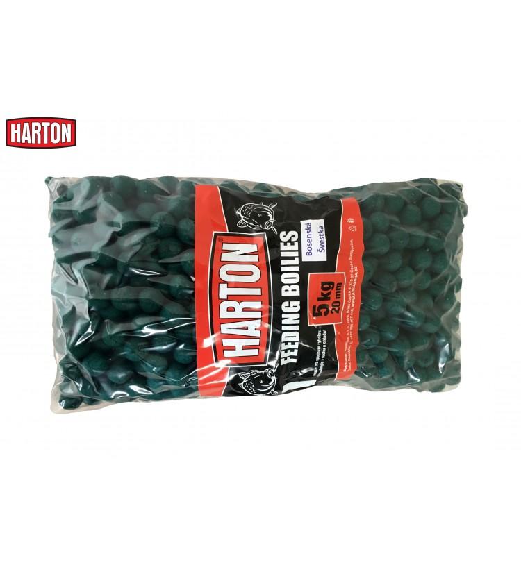 Krmné Boilies Harton 20mm / 5kg příchuť Bosemská švestka