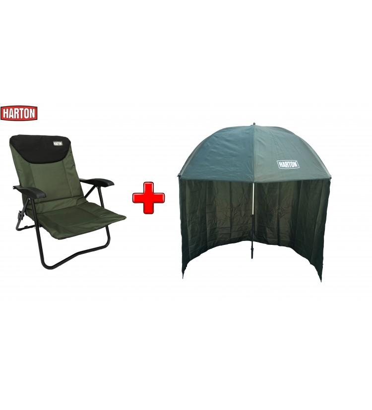 Akce Deštník Harton Half Cover 2,5m + Křeslo Harton Stalker Mini