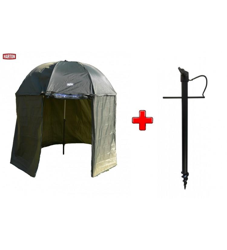 Deštník Harton Full Cover 2,5m + zavrtávací držák deštníku