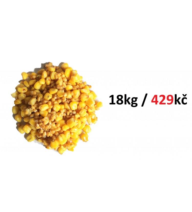 Kukuřice + pšenice vařená vakuovaná 18 x 1kg (18kg)